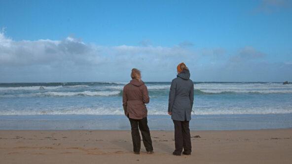 Long distance beach clean walk
